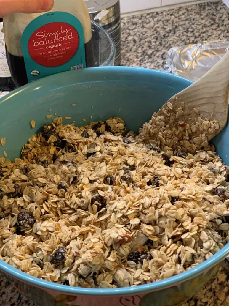 homemade granola ljs grr-nola thrive:mind/body